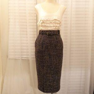 Rachel Riley:: Straight tweed pencil skirt